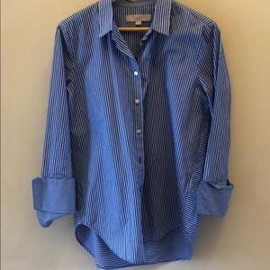 Ann Taylor Classic Button Down Striped Shirt